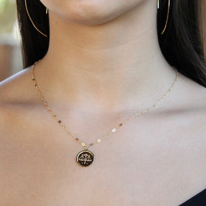 Zodiac Necklace | Gold Zodiac Necklace | Little Hawk Jewelry