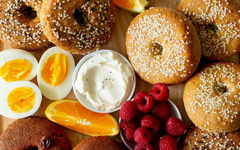 PBH Foods Keto Bagels on a platter