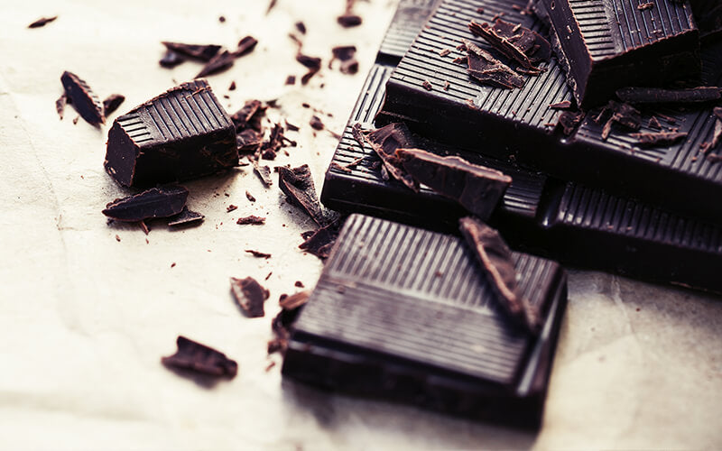 Pieces of Dark Chocolate