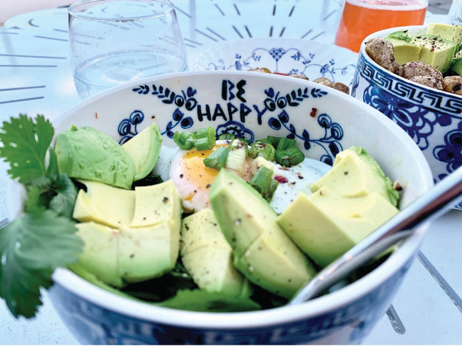 bowl with avocado and egg