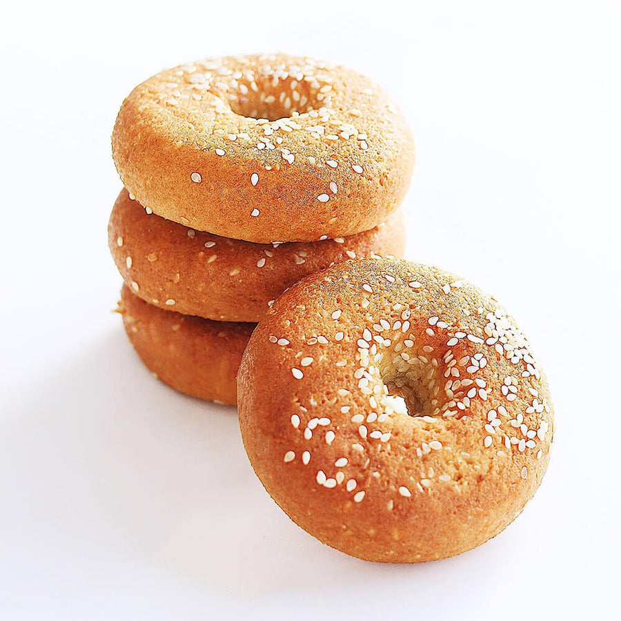 PBH Foods Keto Sesame Seed Bagels stacked