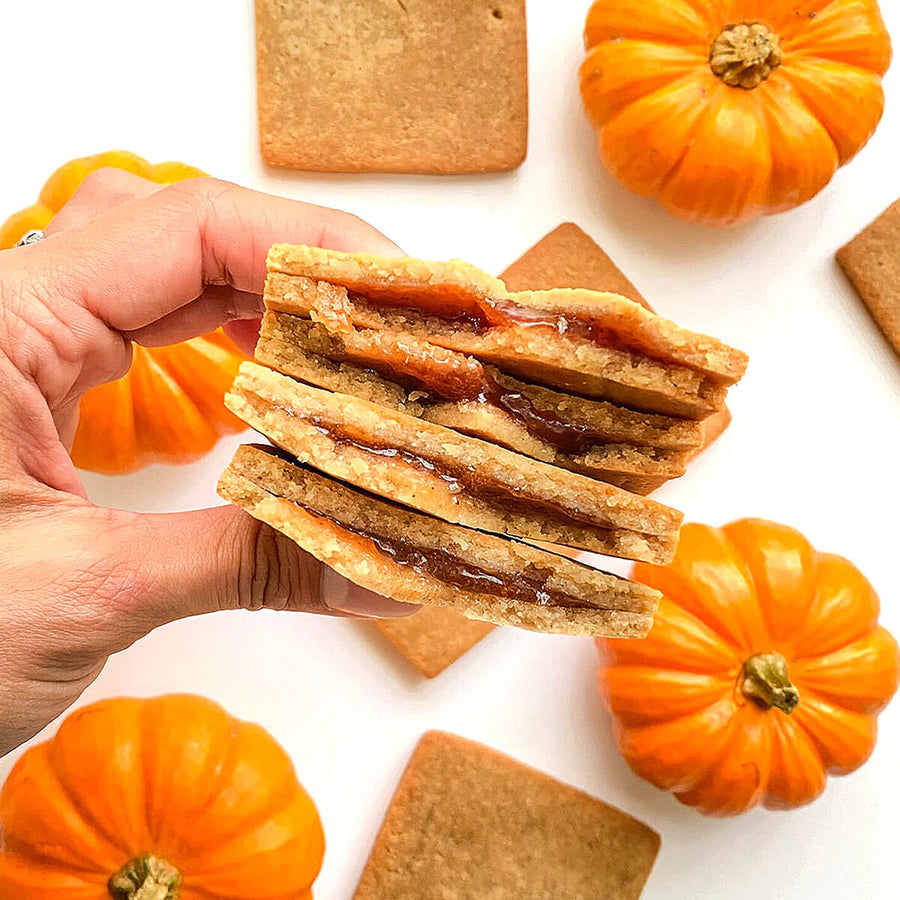 PBH Foods Keto Pumpkin Spice Toaster Pastries with pumpkins