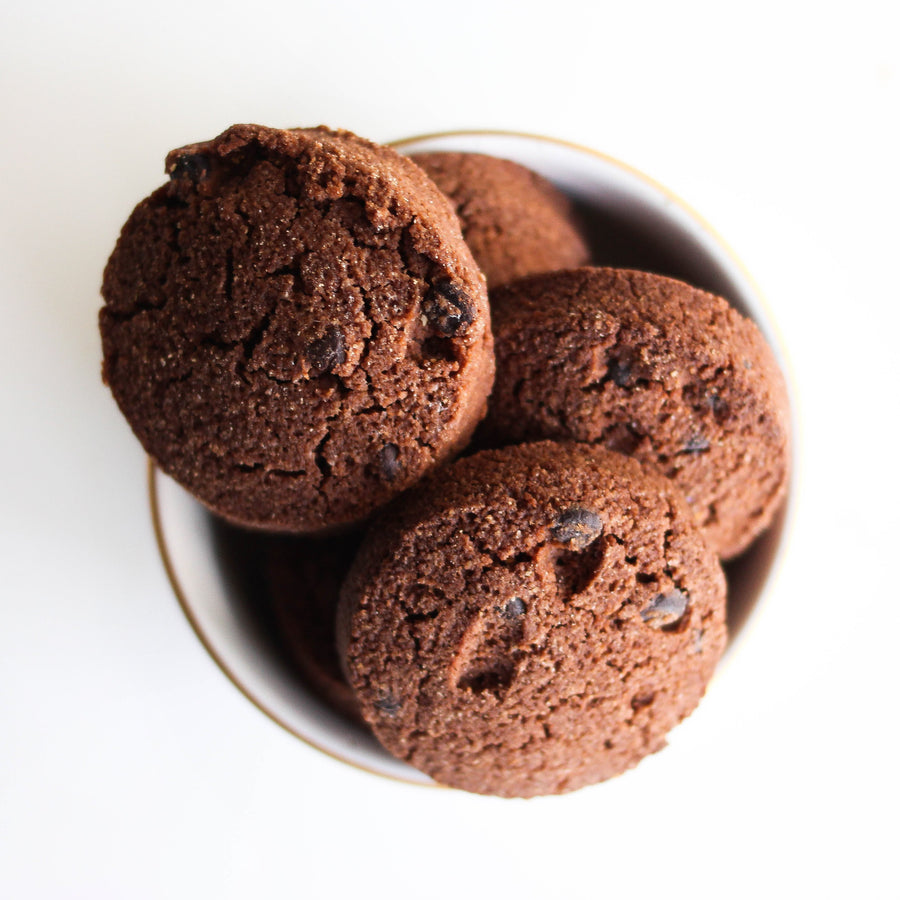 Photo of a Keto Fudge Cookies in a Bowl