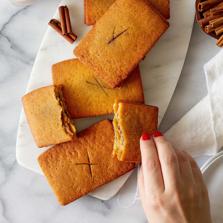 Hand grabbing a PBH Foods Keto Cinnamon Toaster Pastry