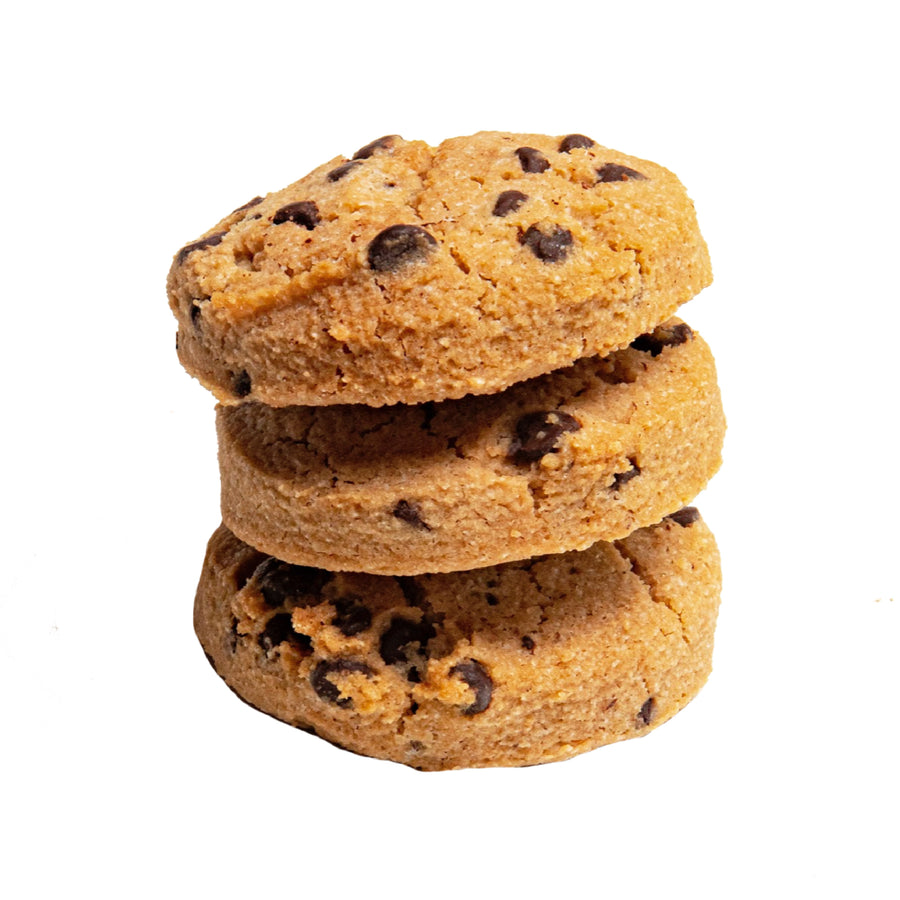 Photo of a Three Keto Chocolate Chip Cookies