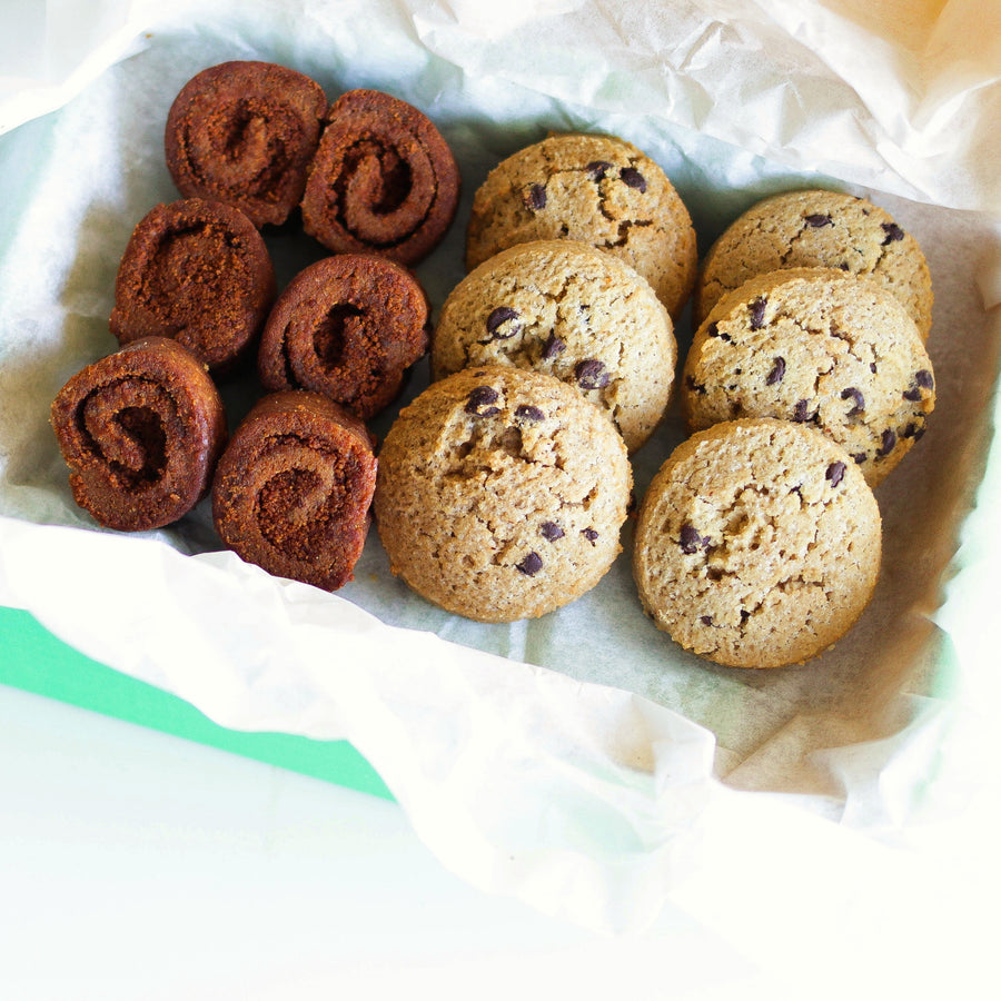 Photo of a Best Sellers Bundle Featuring Cinnamon Rolls and Chocolate Chip Cookies