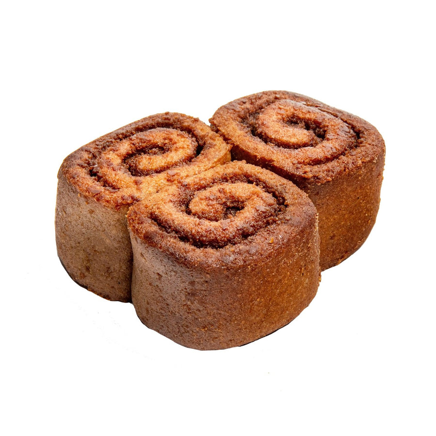 Three Paleo Cinnamon Rolls Stacked Together