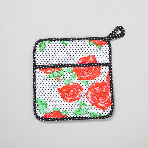 Red Roses Polka Dots Pot Holder