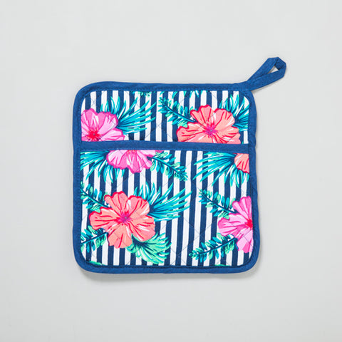 Hibiscus Stripes Pot Holder