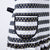 Black and White Stripes Gold Polka Dot Karina Apron
