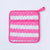 Pink Stripes Gold Dots Pot Holder