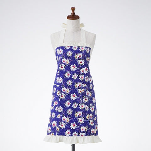 Blue Daisy Dots Allie Apron