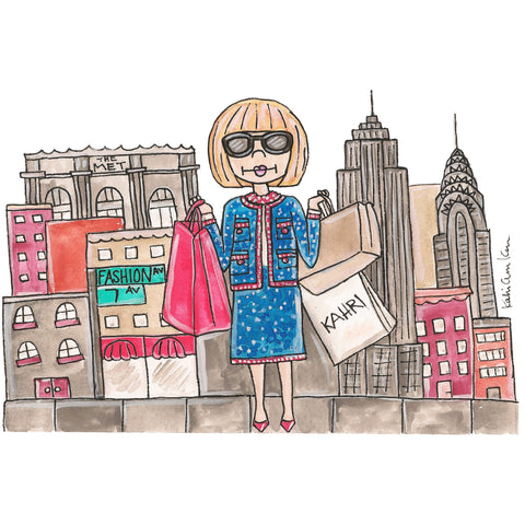 Anna in NYC Illustration