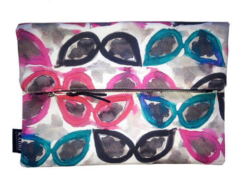 Cateye Sunglasses Foldover Clutch
