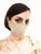 Metallic Golden Rose and Sand Cotton Linen Face Mask with Filter Pocket