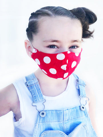 Rosie the Riveter Kids Face Mask with Filter Pocket