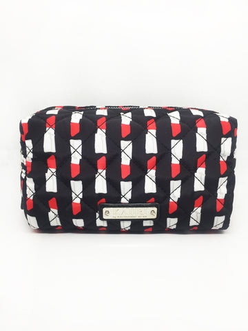 Quilted Lipstick Nylon Large Pouch