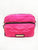 Pink Quilted Lips Double Zip Crossbody