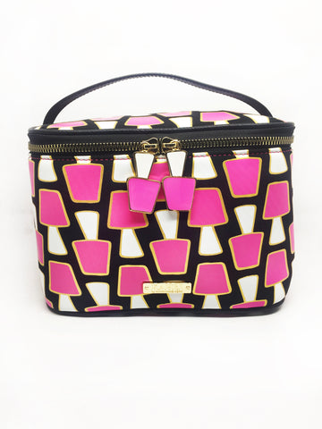 Pink Nail Polish Neoprene Train Case