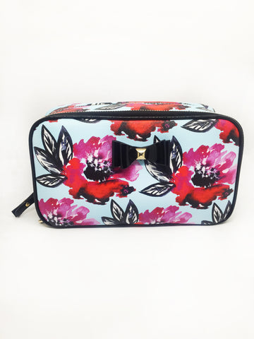 Floral Bow Saffiano Brush Case