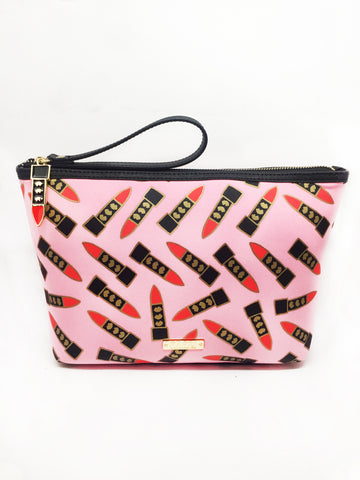 Neoprene Lipstick Extra Large Wristlet Pouch