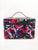 Black Floral Saffiano Hard Train Case