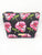 Pink Roses Saffiano Small T Bottom Cosmetic Bag