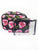 Pink Roses Saffiano 3 Piece Brush Holder Cosmetic Bag