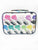 Rainbow Lips and Lipstick Saffiano 3 Piece Brush Holder Cosmetic Bag