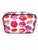 Lips Saffiano 3 Piece Brush Holder Cosmetic Bag