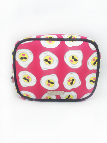 Cool Eggs Neoprene Large Cosmetic Bag