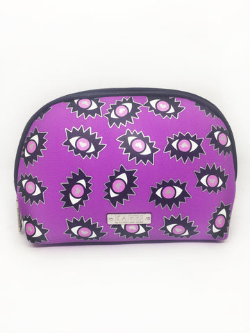 Eyes Neoprene Small Dome Cosmetic Bag