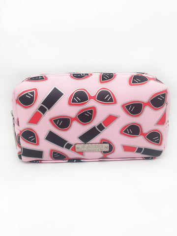 Lipstick Sunglasses Neoprene Small Cosmetic Bag