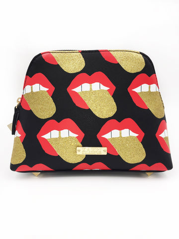 Glitter Tongue Large Cosmetic Bag