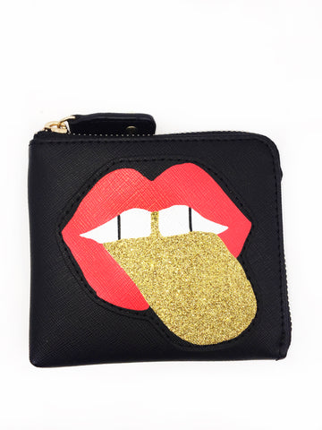 Glitter Tongue Small Wallet