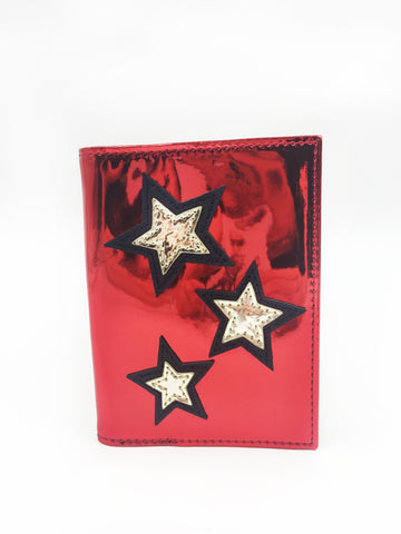 Stars Applique Passport Case