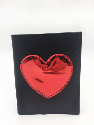 Red Heart Applique Passport Case