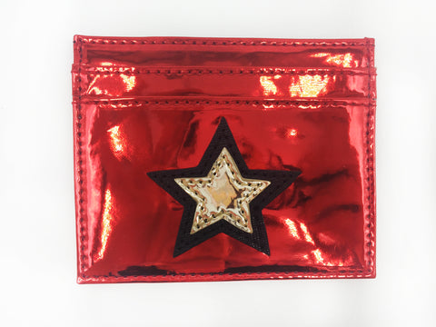 Stars Applique Card Holder