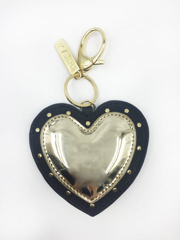 Gold Heart Applique Keychain