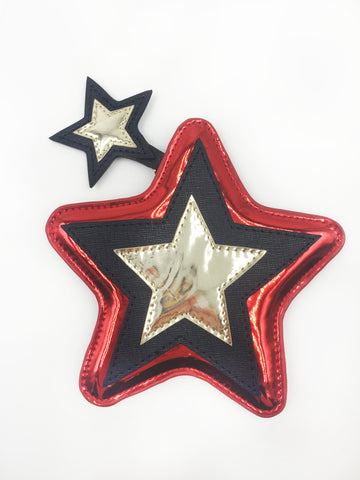 Star Shape Applique Coin Purse