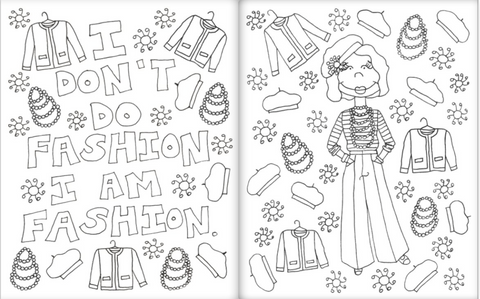 Coloring Book For Fashion : Little fashion icons coloring book u2013 kahri by kahrianne kerr
