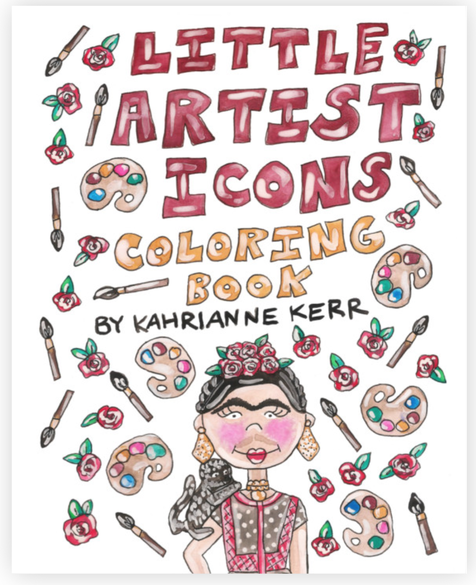Little Artist Icons Coloring Book – Kahri by KahriAnne Kerr