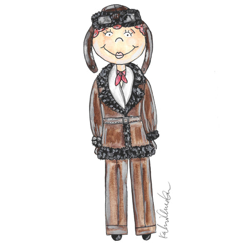 Little Amelia Earhart Illustration