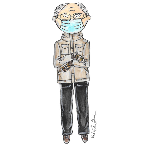 Little Bernie Mittens Illustration