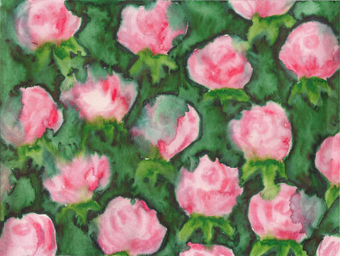 Bleeding Roses Watercolor Painting