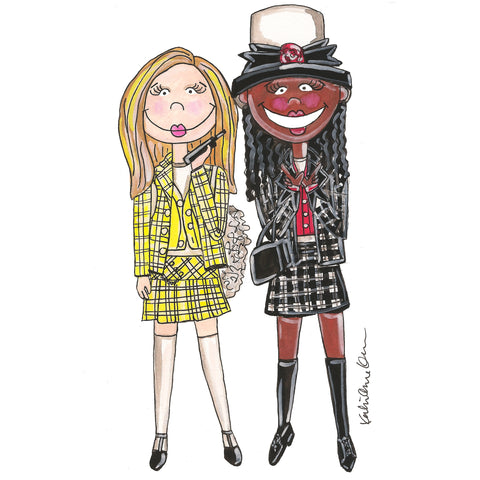 Cher and Dionne Illustration