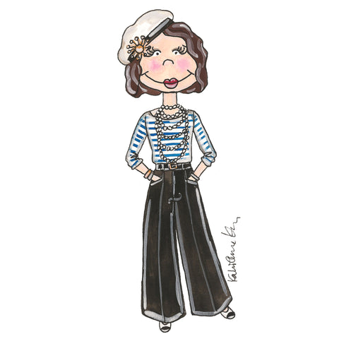 Little Coco Chanel Illustration