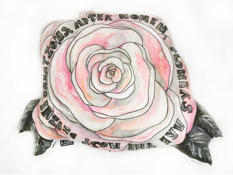 Flower Quote Pillow
