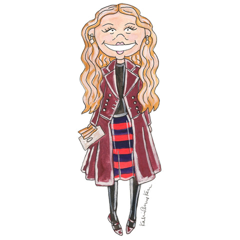 Little Franca Sozzani Illustration