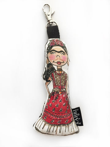 Mini Frida Kahlo Doll Bag Charm